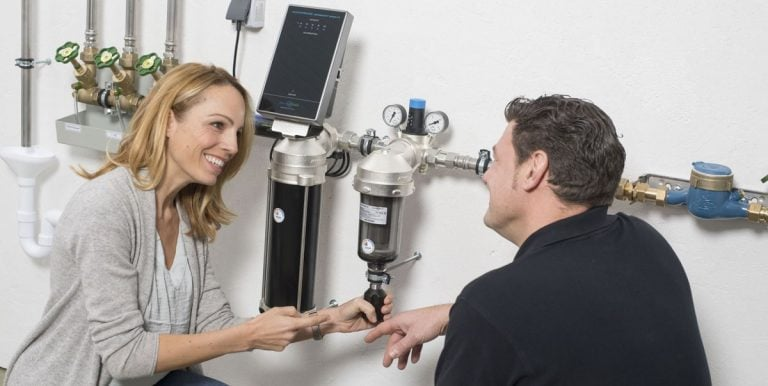 Wasserfilter für den Hausanschluss Trinkwasserfilter perma-trade permaster black Rückspülfilter